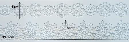 Mulaj din silicon - Bordura dantela - Flori1