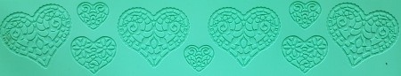 Mulaj din silicon - Bordura - Inima 2