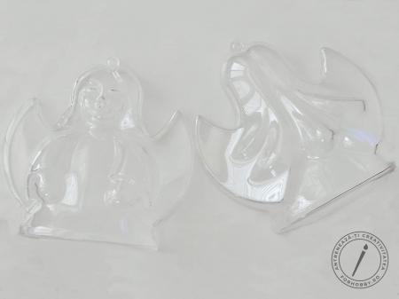 Înger plastic 2 părți cu bază plată - 10 x 9.4 x 6 cm1