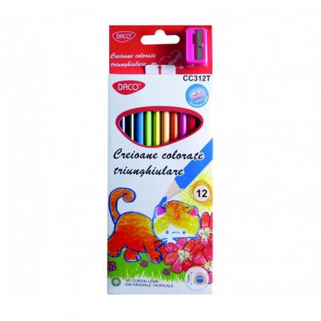 Creion color 12 culori triunghiular1