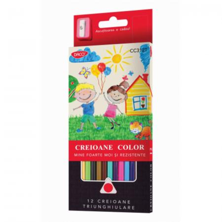 Creion color 12 culori triunghiular0