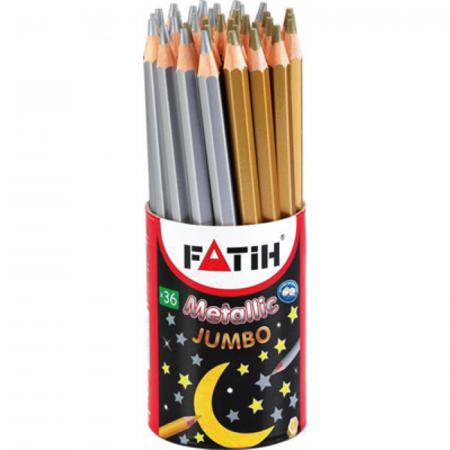 Creion color metalizat Fatih - Auriu1