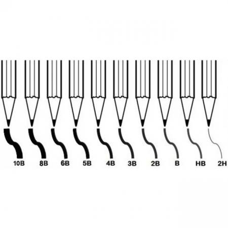 Creion grafit negru 2H -10B1