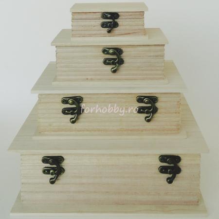 Cutii lemn tip carte - Diverse mărimi1