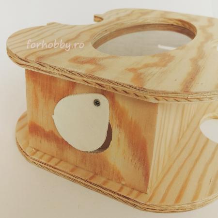 Cutie lemn cu formă de chitară - Pușculiță1
