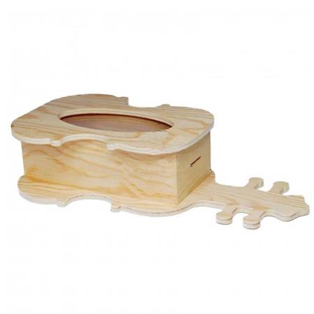 Cutie lemn cu formă de chitară - Pușculiță3