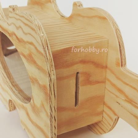Cutie lemn cu formă de chitară - Pușculiță2