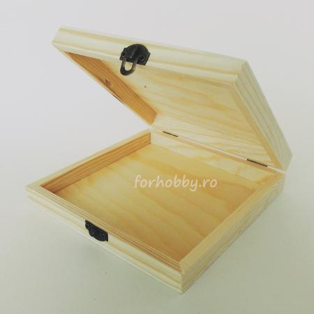 Cutie lemn pentru trabuc  14.5 x 14.5 x 3 cm0