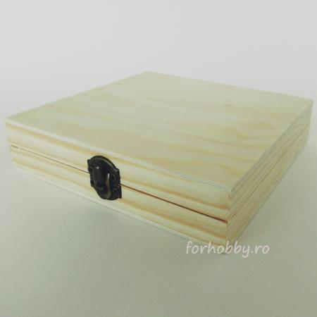 Cutie lemn pentru trabuc  14.5 x 14.5 x 3 cm1