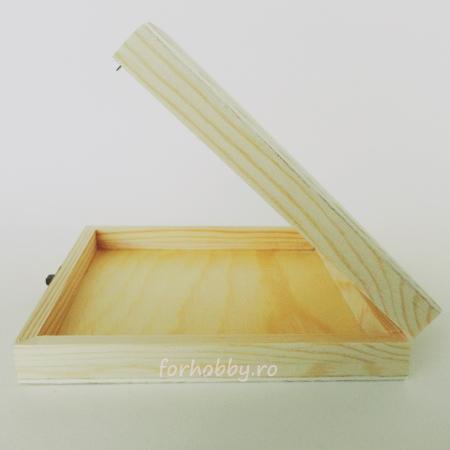 Cutie lemn pentru trabuc  14.5 x 14.5 x 3 cm2