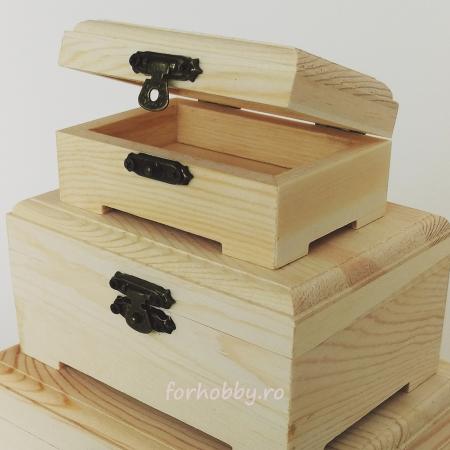 Cutii lemn dreptunghiulare cu capac - Diverse mărimi1