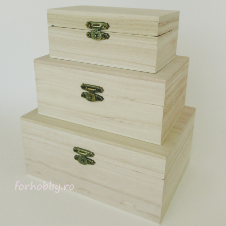 Cutii lemn dreptunghiulare - Diverse mărimi0