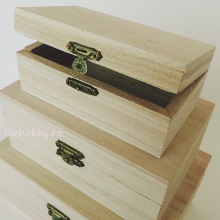 Cutii lemn dreptunghiulare - Diverse mărimi1
