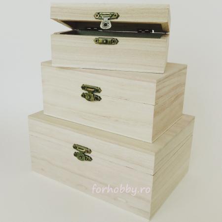 Cutii lemn dreptunghiulare - Diverse mărimi2