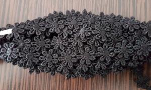 Dantela floricele negre 9.5 m0