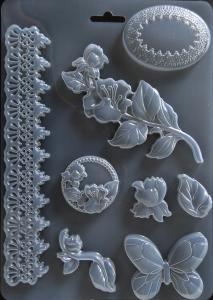 Matrita pentru turnat - Decor plante fluture0