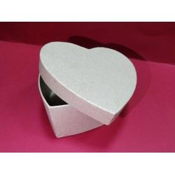 Cutie în formă de inimă, carton - 8 x 7.5 x 5 cm0