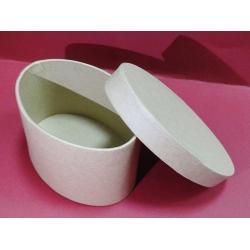 Cutie ovală, carton - 12.5 x 8.5 x 6.5 cm0