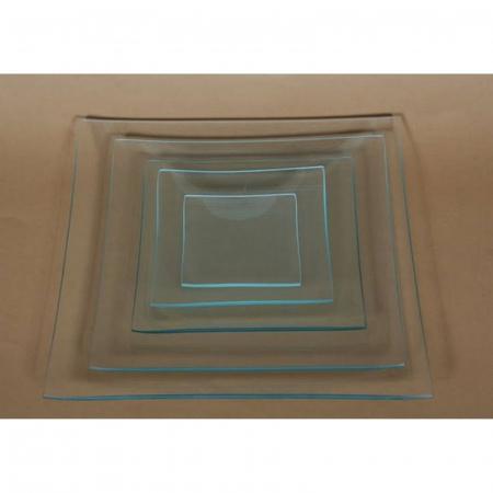 Farfurie sticlă Pătrată1