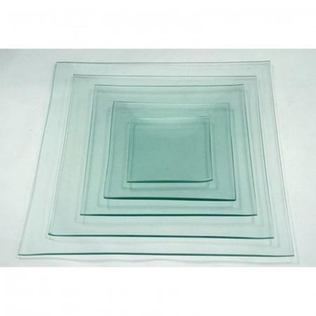 Farfurie sticlă Pătrată0