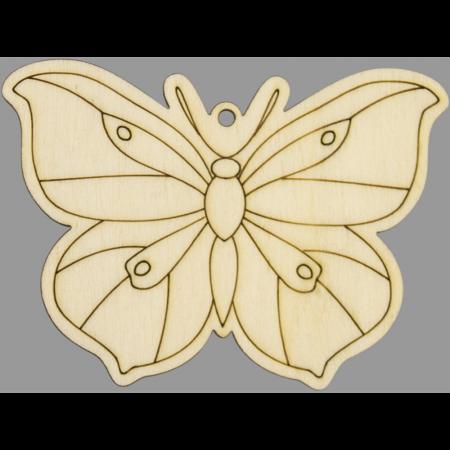 Figurina din lemn - Fluture0