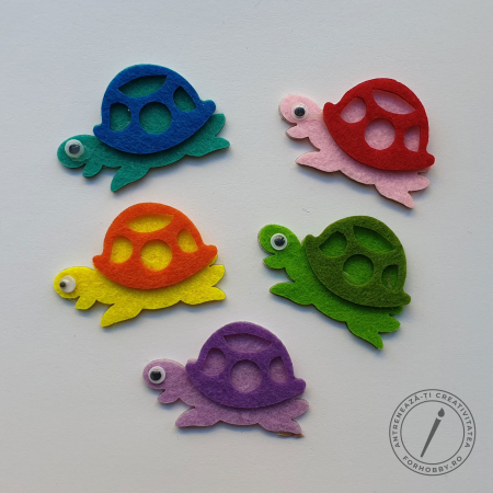 Figurine din fetru autoadezive - Țestoase1
