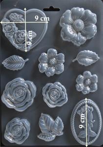 Matrita pentru turnat - Trandafiri1