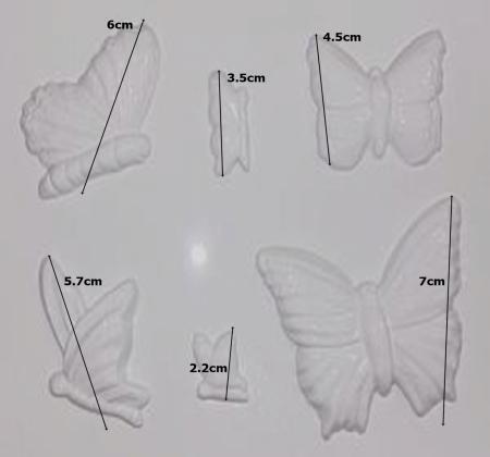 Matrita pentru turnat - Fluturi1