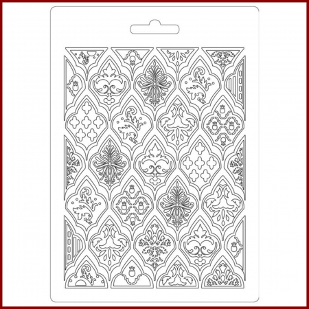 Foaie texturata Stamperia - Romburi1