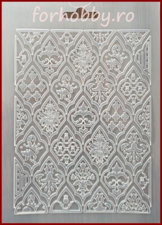 Foaie texturata Stamperia - Romburi0
