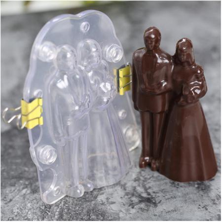 Forme 3D pentru figurine din ciocolata - Pereche miri0
