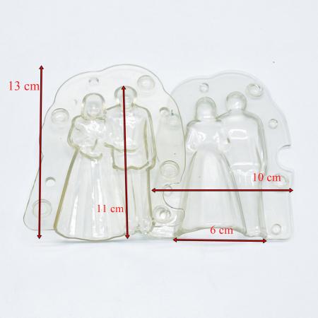 Forme 3D pentru figurine din ciocolata - Pereche miri1