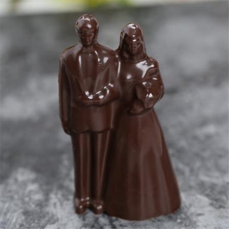 Forme 3D pentru figurine din ciocolata - Pereche miri3