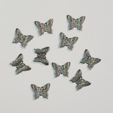 Forme metalice embosate - Set 10 fluturi