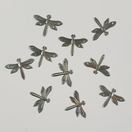 Forme metalice embosate - Set 10 libelule