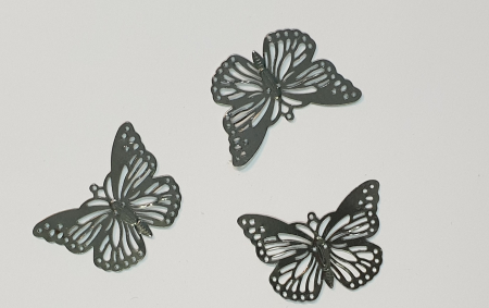 Forme metalice embosate - Set 3 fluturi0
