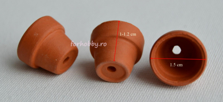 Mini ghiveci teracota - 1 x 1.5 cm1