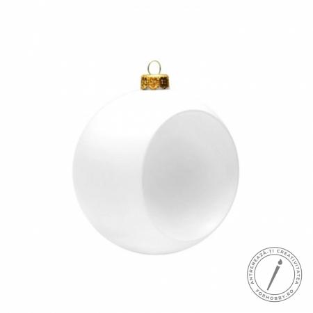 Glob plastic alb - Concav0