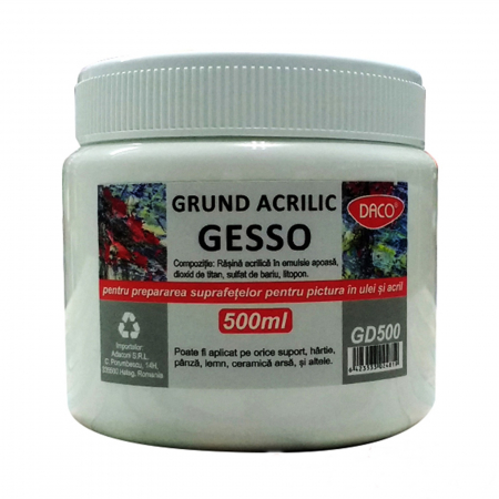 Grund acrilic Gesso 500ml - Alb1