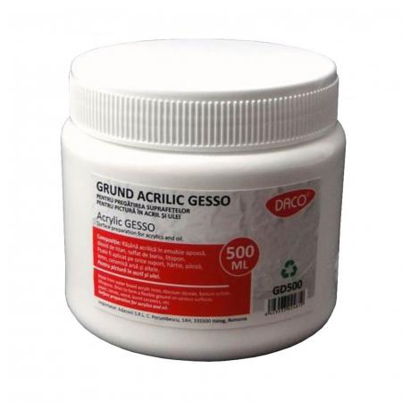 Grund acrilic Gesso 500ml - Alb0