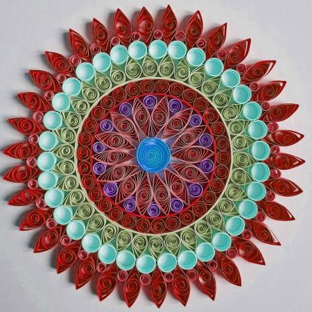 Hârtie quilling - Nuanțe de roșu - Flacăra1