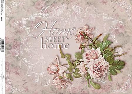 Hârtie de orez A4 - Sweet Home - R7211