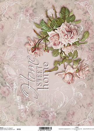 Hârtie de orez A4 - Sweet Home - R7210