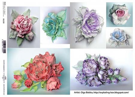 Hârtie de orez A4 - Picturi cu flori - R12391