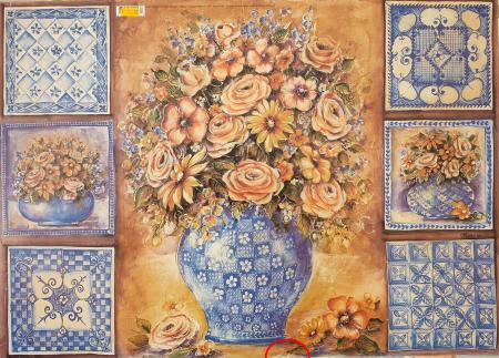 Hârtie decupaj clasic 50 x 70 cm - Vază cu Flori0