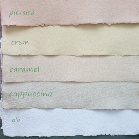 Hartie reciclata manual - Cappuccino0