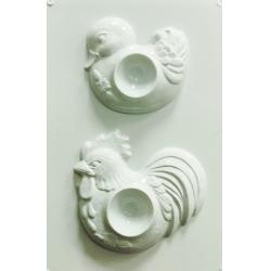 Matrita pentru turnat - Suport oua - Rata si cocos0
