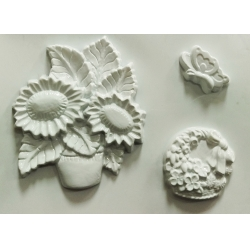 Matrita pentru turnat - Flori si fluturi