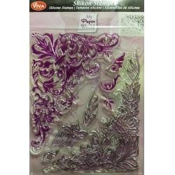 Stampila silicon - Colturi florale1