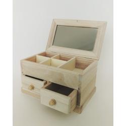 Cutie bijuterii cu 2 sertare 17x10.5x10 cm0
